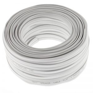 2 Câbles Plats DE 1,5mm²pour Enceinte - Blanc - 25m - CCA - Câble Audio - Enceintes de la marque Seki image 0 produit
