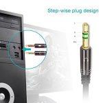 [2 Pack] KINGTOP Câble Audio Splitter 3.5mm Câble Adaptateur Jack Stéréo Audio Mâles vers Femelle (Noir) de la marque KINGTOP image 2 produit