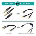 [2 Pack] KINGTOP Câble Audio Splitter 3.5mm Câble Adaptateur Jack Stéréo Audio Mâles vers Femelle (Noir) de la marque KINGTOP image 3 produit