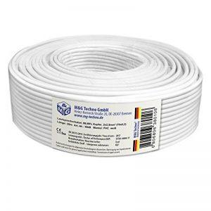 20m Câble de haut-parleur 2x2,5mm² OFC rectangulaire blanc marquage de longueur, Model 9549 de la marque M&G Techno® image 0 produit