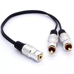 3,5mm vers RCA câble répartiteur, 25cm prise jack stéréo 3,5mm femelle vers 2phono RCA Male Plug Adapter de la marque OpenII image 0 produit