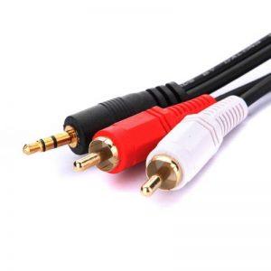 3.5mm Jack to 2 x RCA Phono Stereo Audio Cable 5m Lead de la marque The end image 0 produit