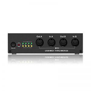 4-In/4-Out MIDI BOX -DriverGenius USB MIDI Interface Splitter Controller Music Box with MIDI Merge Function de la marque DriverGenius image 0 produit