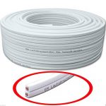50m Câble de haut-parleur 2x2,5mm² CCA rectangulaire blanc marquage de longueur, Model 3317 de la marque M&G Techno® image 1 produit