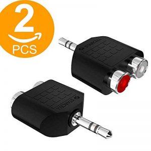 ACT Lot de 2prise stéréo 3,5mm mâle vers 2RCA femelle Jack Audio Y Splitter adaptateur de la marque ACT image 0 produit