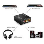 Adaptateur de convertisseur audio R/L avec câble optique Prozor DAC numérique SPDIF TosLink vers analogique, PS3 Xbox HD DVD PS4Sky HD Plasma Blu-ray Home Cinéma, amplificateurs AV, Apple TV, alimentation par câble USB de la marque Proster image 2 produit
