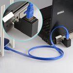 Adaptateur Ethernet, J&D Cat 6 Ethernet Adaptateur de l'angle droit (90 degrés)-Support Cat 6 / Cat5e / Cat5 Normes, RJ45 Cordons protégés Mâle-Femelle de la marque JD image 4 produit