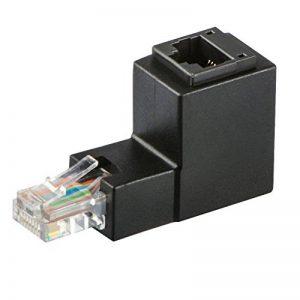 Adaptateur Ethernet, J&D Cat 6 Ethernet Adaptateur de l'angle droit (90 degrés)-Support Cat 6 / Cat5e / Cat5 Normes, RJ45 Cordons protégés Mâle-Femelle de la marque JD image 0 produit
