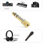 Adaptateur Jack 6.35 mm Mâle vers 3.5 mm Femelle-2 Pack, Posugear Casque Prise Adaptateur 6.35 3.5 Audio Connecteur Stéréo Headphone Jack Adapter Plaqué Or (2 Pack) de la marque POSUGEAR image 3 produit
