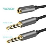 Adaptateur Micro Casque, POSUGEAR Câble Audio Jack 3.5mm Femelle à Double 3.5mm Mâle Microphone Y Splitter Câble Plaqué Or Compatible avec PC Ordinateur, Haut-Parleur etc (Noir) de la marque POSUGEAR image 1 produit