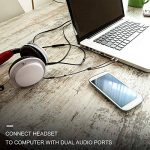 Adaptateur Micro Casque, POSUGEAR Câble Audio Jack 3.5mm Femelle à Double 3.5mm Mâle Microphone Y Splitter Câble Plaqué Or Compatible avec PC Ordinateur, Haut-Parleur etc (Noir) de la marque POSUGEAR image 4 produit