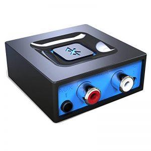 Adapteur Audio Bluetooth pour la Diffusion de Musique vers la Système Audio, Esinkin Adapteur Audio Sans-fil Fonctionne avec Smartphones et Tablettes, Récepteur Bluetooth pour Haut-parleurs de la marque esinkin image 0 produit
