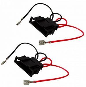 Aerzetix: 2 connecteurs adaptateurs de haut-parleurs enceintes auto pour auto voiture de la marque AERZETIX image 0 produit