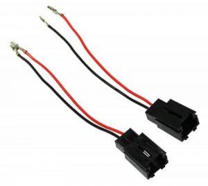AERZETIX 2X CONNECTEURS FICHES Enceintes Haut-PARLEURS pour Peugeot Citroen 2000+ - C1852 de la marque AERZETIX image 0 produit