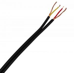Aerzetix: câble audio côte à côte plat blindé noir 2x0.14mm² 2.9x5.8mm C19721 (10 mètres) de la marque AERZETIX image 0 produit