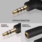 AFUNTA Casque Audio Kit Splitter stéréo, U Shape 3 Pin jack 3,5 mm à 2 casque + U forme 4 broches Adaptateur à 2 3.5mm 4 Pin Ecouteur avec micro pour les téléphones, ordinateurs, MP3, Tablet, Etc. de la marque AFUNTA image 1 produit