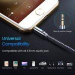 AINOPE 2 Paquets Cable Jack Aux Audio Stéréo 3.5mm Câble Male ver Male en Nylon pour iPhone X/8/8 Plus/7/7 Plus/6/6 Plus,iPod, Voiture, Casque, Echo Dot 2, Portables, Smartphones, MP3 de la marque AINOPE image 3 produit