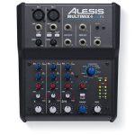 Alesis - MultiMix4 USB FX - Table de Mixage Analogique 4 Voies avec Effets, Interface Audio USB et Logiciel Cubase LE Inclus - Noir de la marque Alesis image 1 produit