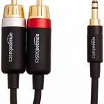 AmazonBasics Câble adaptateur RCA 3,5mm vers 2 mâles - 2,44m de la marque AmazonBasics image 2 produit