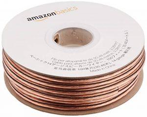 AmazonBasics Câble audio pour haut parleur Calibre 14 Section 2,08 mm² Longueur 30 m de la marque AmazonBasics image 0 produit