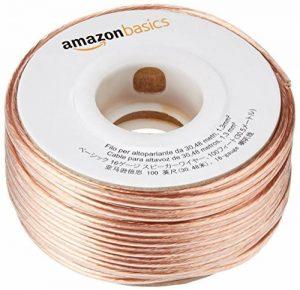 AmazonBasics Câble audio pour haut-parleur Calibre 16 Section 1,3 mm² Longueur 30,4 m de la marque AmazonBasics image 0 produit