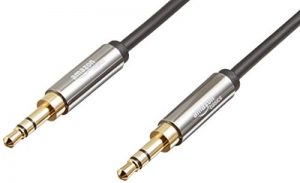 AmazonBasics Câble audio stéréo mâle vers mâle 3,5mm - 2,4m de la marque AmazonBasics image 0 produit