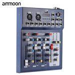ammoon Console de Mixage Table de Mixage 3 Canaux Mic Ligne Numérique Audio Mixeur F4-USB avec 48V Alimentation pour Enregistrement DJ Karaoké de la marque image 3 produit