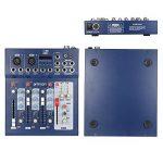 ammoon Console de Mixage Table de Mixage 3 Canaux Mic Ligne Numérique Audio Mixeur F4-USB avec 48V Alimentation pour Enregistrement DJ Karaoké de la marque image 1 produit