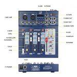 ammoon Console de Mixage Table de Mixage 3 Canaux Mic Ligne Numérique Audio Mixeur F4-USB avec 48V Alimentation pour Enregistrement DJ Karaoké de la marque image 2 produit