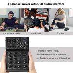 ammoon Console de Mixage Table de Mixage 4 Canaux Mixeur Audio Numérique avec EQ 2 Bandes Intégrées Alimentation Fantôme 48V et USB 5V pour Enregistrement en Studio DJ Karaoké de la marque ammoon image 2 produit