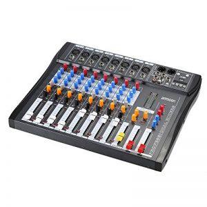 ammoon Console de Mixage Table de Mixage 8 Canaux Ligne de Micro Numérique Mixage Audio CT80S-USB avec Alimentation Fantôme 48V pour Enregistrement DJ Scène Karaoké de la marque ammoon image 0 produit