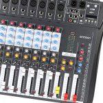 ammoon Console de Mixage Table de Mixage 8 Canaux Ligne de Micro Numérique Mixage Audio CT80S-USB avec Alimentation Fantôme 48V pour Enregistrement DJ Scène Karaoké de la marque ammoon image 2 produit