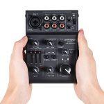 ammoon Console de Mixage Table de Mixage Mélangeur 5 Canaux Mini Mic-Line avec Interface Audio USB Intégrée Effet Echo pour Enregistrement DJ Network Live Broadcast Karaoké AGE03 de la marque ammoon image 1 produit