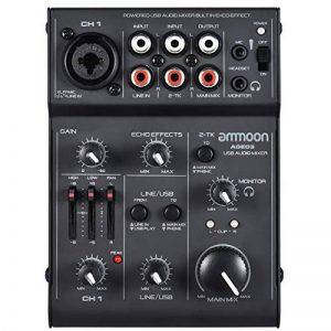 ammoon Console de Mixage Table de Mixage Mélangeur 5 Canaux Mini Mic-Line avec Interface Audio USB Intégrée Effet Echo pour Enregistrement DJ Network Live Broadcast Karaoké AGE03 de la marque ammoon image 0 produit