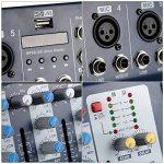 ammoon F7-USB 7 Canaux Mic Ligne Numérique Audio Mixage Console de Mixage avec Entrée USB 48V Alimentation Fantôme 3 bandes d'égalisation pour l'enregistrement DJ Scène Karaoke Music Appreciation de la marque ammoon image 1 produit