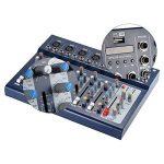 ammoon F7-USB 7 Canaux Mic Ligne Numérique Audio Mixage Console de Mixage avec Entrée USB 48V Alimentation Fantôme 3 bandes d'égalisation pour l'enregistrement DJ Scène Karaoke Music Appreciation de la marque ammoon image 3 produit