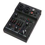 ammoon Mini Table de Mixage 2 Canaux Console de Mixage Mixeur Audio Numérique Carte Son EQ 2 Bandes Intégrées avec Alimentation Fantôme 48V et USB 5V pour Enregistrement en Studio DJ Karaoké de la marque ammoon image 2 produit
