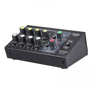 ammoon Mixeur Ultra Compact à Faible Bruit 8 Canaux Métal Mono Mixeur Audio Avec Câble Adaptateur Secteur de la marque ammoon image 0 produit