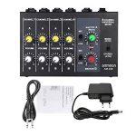 ammoon Mixeur Ultra Compact à Faible Bruit 8 Canaux Métal Mono Mixeur Audio Avec Câble Adaptateur Secteur de la marque ammoon image 1 produit