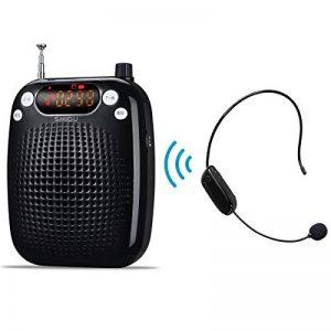 Amplificateur vocal, système de sonorisation portable rechargeable 10W haut-parleur sans fil avec microphone SHIDU avec microphone sans fil FM pour enseignants, yoga, guides touristiques de la marque SHIDU image 0 produit