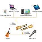 Anpro 3PCS Adapteur Jack Audio Contacteur 6.35mm/6.5mm Mâle vers 3.5mm Femelle -Or de la marque Anpro image 4 produit