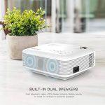 APEMAN Projecteur Mini Vidéoprojecteur, 3500 Lumen Rétroprojecteur Multimédia LED Full HD 1080P, 45000 Heures Cinéma à Domicile Divertissement, HDMI/VGA/AV/TF/USB, Compatible avec TV Box, Chromecast de la marque APEMAN image 1 produit