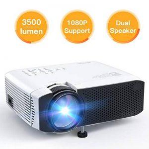 APEMAN Projecteur Mini Vidéoprojecteur, 3500 Lumen Rétroprojecteur Multimédia LED Full HD 1080P, 45000 Heures Cinéma à Domicile Divertissement, HDMI/VGA/AV/TF/USB, Compatible avec TV Box, Chromecast de la marque APEMAN image 0 produit