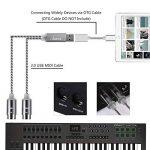 Asmuse Cable MIDI USB Bright LED Convertisseur d'interface pour Instruments de Musique électriques Clavier Piano électrique à PC Mac Portable 5 PIN Connecteur'2 en 1' d'entrée-sortie Cable (1,9 m) de la marque Asmsue image 3 produit