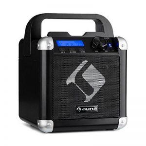 Auna BC-1 • Système karaoké • Système de Mini-Son • Karaoké • Ecrans LCD • Puissance de Sortie RMS de 15 Watts • Bluetooth • entrée USB • Batterie • Sangle de Transport • Robuste • Noir de la marque Auna image 0 produit