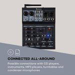 auna Blackbird table de mixage 6-canaux • 6 canaux • Connexion USB • Bluetooth • 2 x connecteur microphone avec réglage des graves et des aigus • 16 effets • pour +48V microphone à condensateur • noir de la marque auna multimedia image 2 produit