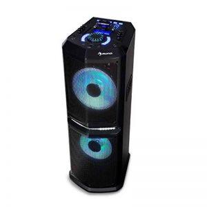 """auna Clubmaster 8000 Système Audio Bluetooth Sono Portable 2 subwoofers 10"""" USB de la marque Auna image 0 produit"""
