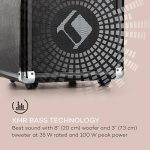 """auna Moving 80 Système son • 8"""" (20 cm) Woofer • 35W puissance nominale • 100W max puissance de crête • XMR-Bass-Technology • micro VHF • USB • SD • Bluetooth • AUX • mobile • batterie intégrée • noir de la marque Auna image 3 produit"""
