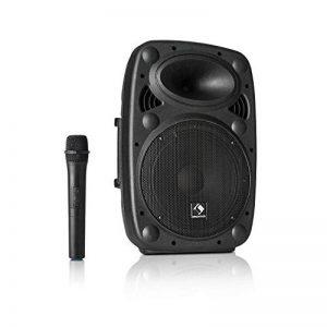 """auna Streetstar 10 • Système de sonorisation Mobile • Subwoofer 10"""" (25,5 cm) • 400W • Bluetooth • Port USB • SD • MP3 • AUX • Batterie 3 Ah • Noir de la marque Auna image 0 produit"""