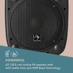 """auna Streetstar 10 • Système de sonorisation Mobile • Subwoofer 10"""" (25,5 cm) • 400W • Bluetooth • Port USB • SD • MP3 • AUX • Batterie 3 Ah • Noir de la marque Auna image 4 produit"""